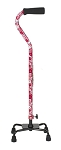 Small Base Quad Cane - Pink Floral