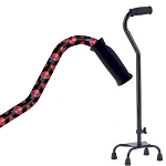 Small Base Quad Cane - Red Hat