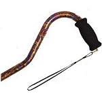 Offset Handle Aluminum Cane - Paisley