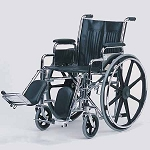 Detachable Desk Arm Wheelchair With Padded Elevating Legrests