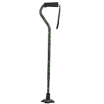 Self Standing Offset Handle Aluminum Cane - Canterbury