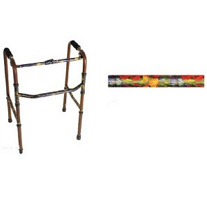 Designer Folding Walker Summer Garden