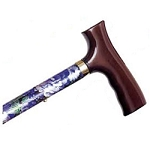 Adjustable Travel Folding Cane - Mauve Floral
