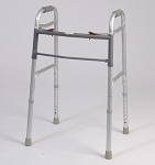 Dual Button Folding Walker